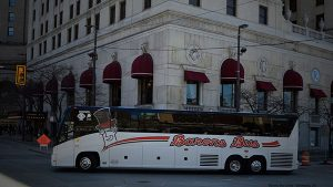 barons bus our fleet gallery parked renaissance hotel corner 600x338