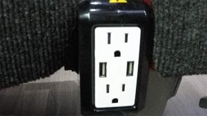 barons bus our fleet interior dual power outlets usb