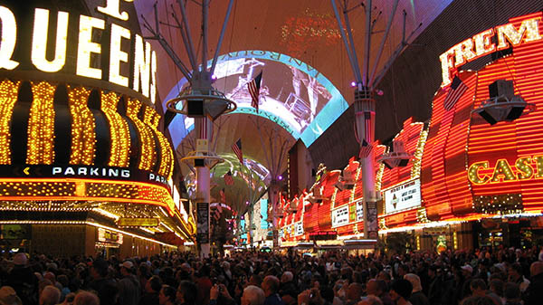 charter bus las vegas nevada attractions fremont street experience