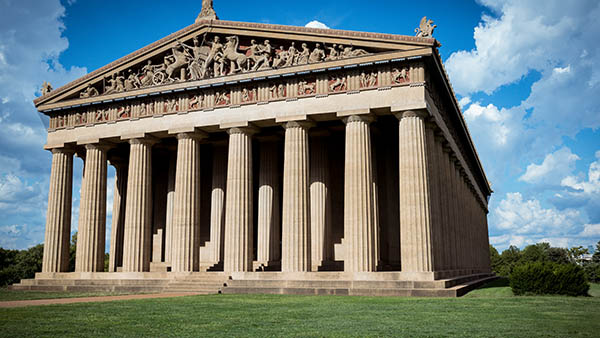 charter bus nashville tennessee attractions parthenon at centennial park
