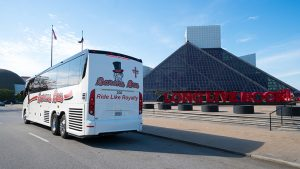 charter buses near me gallery barons bus at cleveland rock and roll hall of fame