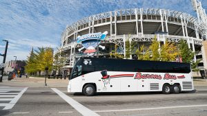 charter buses near me gallery barons bus at progressive field cleveland indians